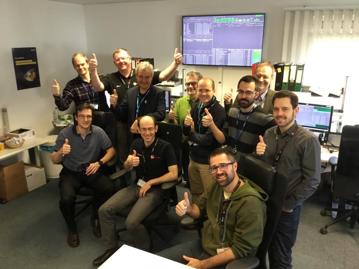 LISA Pathfinder team at ESOC | Lisamission org