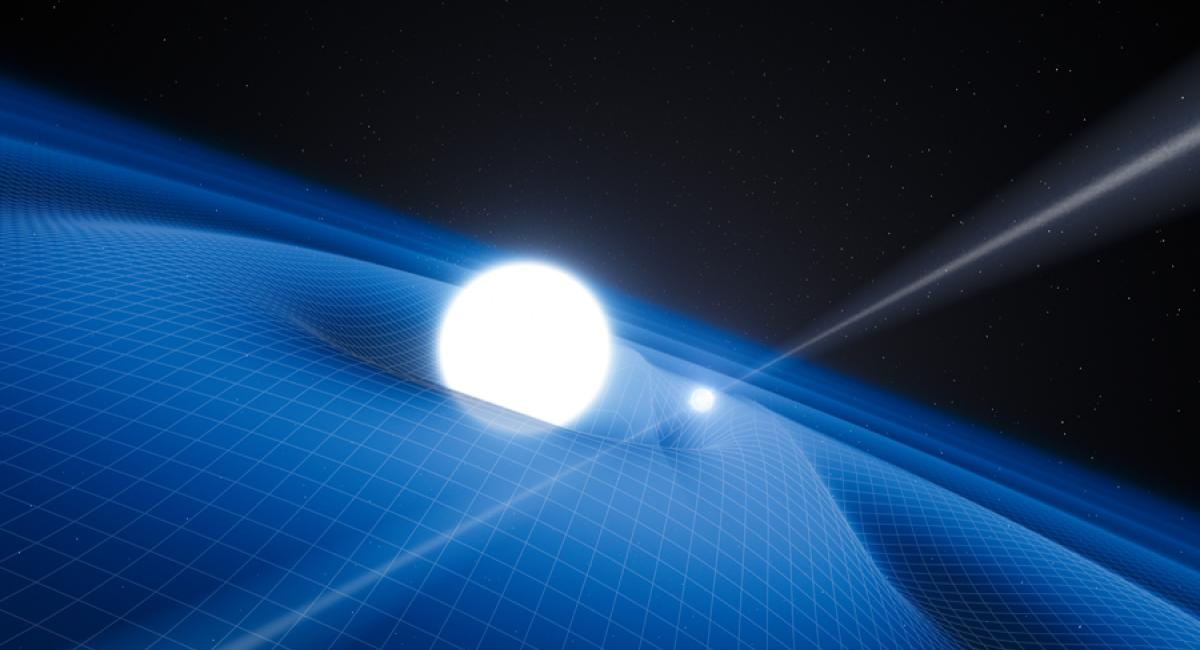 Pulsar PSR J0348+0432 and White Dwarf