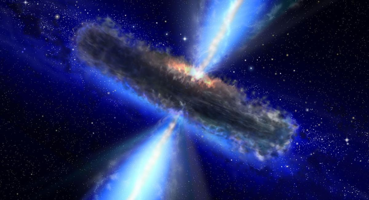 Dust-bound supermassive black hole